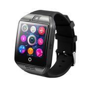 Q18 Smart Wrist Watch Bluetooth Smartwatch Phone with Camera TF/SIM Card Slot GSM Anti-lost Watch (Black)