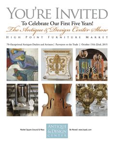 #HPMKT #HPADC Join us this at High Point Market this fall as we celebrate our first 5 years!  The Party is Saturday October 17th 5-8pm and the phenomenal antique buying goes on all week! Oct 15-22, 2015