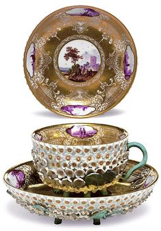 Teacups: elegant and rare.
