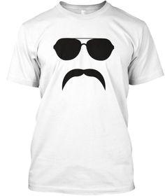 5aeb4202 Aviator Mustache Silhouette T Shirt White T-Shirt Front Pilot T Shirt, Funny  Outfits