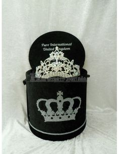 Every Queen Deserves a Beautiful Bespoke Crown Box - Order Yours Now To Fit in Your Stunning Crown/Tiara. Small, Medium or Large Deluxe Crown Box Crown Heights, Tiaras And Crowns, Silver Glitter, Pageant, Swarovski Crystals, Sparkle, Pure Products, Medium, Box