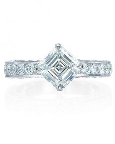 Royal asscher princess engagement ring
