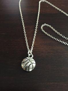 basketball necklace basketball silver basketball by KMSupplies Basketball Videos, Basketball Wall, Basketball Necklace, Jewelry Necklaces, Jewellery, Pendant Necklace, Silver, Gold, Schmuck