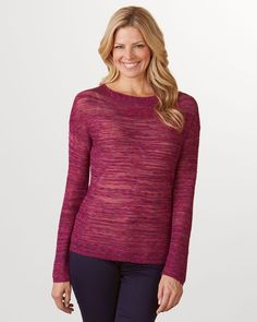 Colorweave sweater in pink