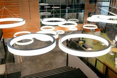 Engage your audience and make them look UP!  Novato Rings from SPI Lighting Available from STL.Lighting.com