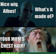 Literally laughed out loud. Voldemort, you suck.