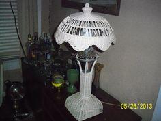 Wicker lamp vintage wicker light by OriginalArtt on Etsy