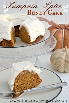 Pumpkin Spice Bundt Cake from The Cards We Drew