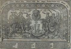 Los 6 hijos de Juana I en un grabado de Grabado de Jan van Nieulandt.