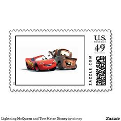 Lightning McQueen and Tow Mater Disney Love Stamps