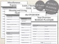 Budget Planner US Size Expense Tracker List by DoortjeDesign