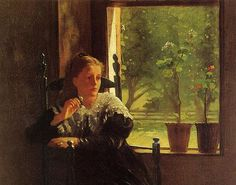'At the Window' Winslow Homer