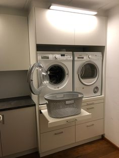 Modern Laundry Rooms, Laundry Room Layouts, Laundry Room Remodel, Laundry Room Cabinets, Laundry Room Organization, Laundry Room Design, Home Room Design, Laundry In Bathroom, Small Laundry