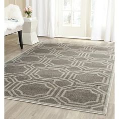Shop for Safavieh Indoor/ Outdoor Amherst Grey/ Light Grey Rug (10' x 14'). Get free shipping at Overstock.com - Your Online Home Decor Outlet Store! Get 5% in rewards with Club O! - 16336227