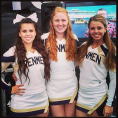 Christina, an @SNHU On Campus student, and some her teammates from #SNHUCheer show off their #PenmenPride at a New Hampshire #NASCAR event, where they appeared on FOX Sports.