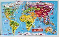 Магнитная карта мира от Janod