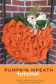 Ever wondered how to make a DIY pumpkin wreath