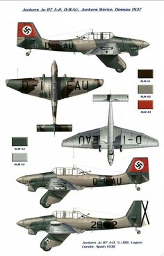 World War II - Junkers Stuka - a disaster when put against the P 51 Mustang or Spitfire, slow and vulnerable. But good if no real opposition was around. by marcy Ww2 Aircraft, Fighter Aircraft, Military Aircraft, Fighter Jets, Luftwaffe, Illustration Avion, Aircraft Painting, Ww2 Planes, War Machine