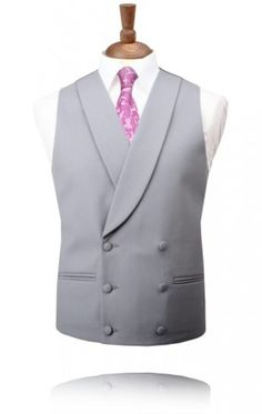 a9603b32fc1 Traditional Dove Grey Double Breasted Morning Suit Waistcoat. Double  breasted is just one option for