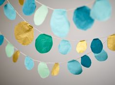 Tissue garland DIY from the Land of Nod. So easy and adorable!