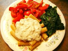 """Vegan Food; More Than Tofu and Sprouts!: Kale """"flowers"""" and Cashew Cream Alfredo Sauce"""