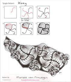 kozy tangle pattern - Google Search