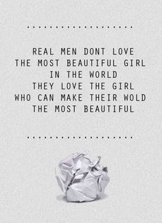 real men. you know who you are.