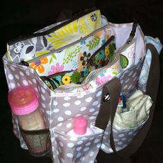 Nice bag for daycare provider. Each child has a pouch to hold their own diapers!
