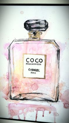 Coco Chanel/Painting/Gift/Fashion/Home Decor by GirlAndHerCat