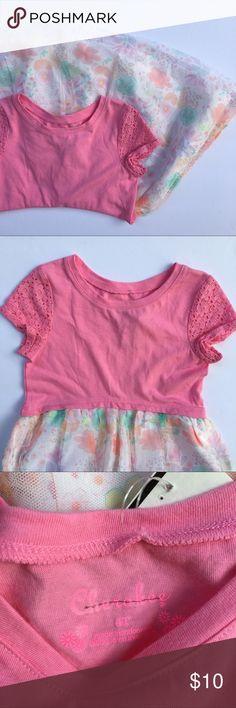 Tee Shirt Dress Tee shirt dress with tulle skirt. Cherokee Dresses Casual