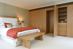 Beautiful bedroom with wardrobe cabinet :)