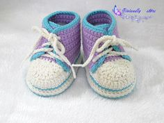 This crochet shoes is comfortable and warm, made of cotton yarn, which will definitely give your lovely baby the best care.  The baby shoes is