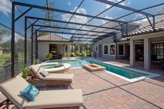 covered pool | dream home | Pinterest | Covered pool, Backyard and ...