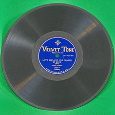 "1928 Velvet Tone Shellac 10"" 78 RPM Record, John Hassel (Pipe Organ), Play-Rated!"