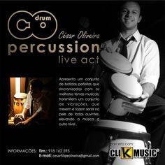 Já conhece o nosso novo parceiro?   César de Oliveira Drum Percussion   Um conjunto de batidas perfeitas que sincronizadas com os melhores temas musicais transmitem um conjunto de vibrações que mexem e fazem sentir na pele de todos ouvintes elevando a música a outro nível.