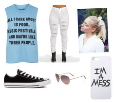 """""""Untitled #10"""" by kyleighisabella ❤ liked on Polyvore featuring Topshop, Converse, LAUREN MOSHI and Bebe"""