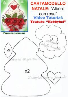 HOBBYBEL blog & youtube Christmas Patchwork, Christmas Applique, Christmas Sewing, Felt Christmas, All Things Christmas, Christmas Holidays, Christmas Ornaments, Thanksgiving Decorations, Christmas Decorations