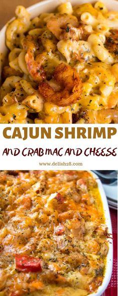 Shrimp Mac And Cheese Recipe, Mac And Cheese Rezept, Seafood Mac And Cheese, Cajun Shrimp Recipes, Cajun Recipes, Seafood Recipes, Crockpot Recipes, Cooking Recipes, Gourmet Mac And Cheese