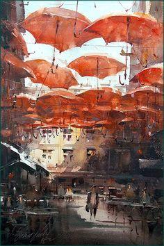 Dusan Djukaric,  Watercolor, 36x55 cm