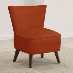 Skyline Furniture Mid Century Panama Wave Slipper Chair Color: