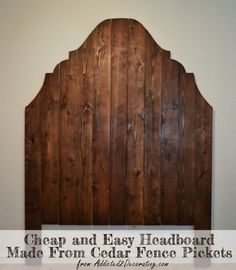 Check out this tutorial on how to make a #DIY repurposed cedar picket fence headboard. Looks easy enough! #BedroomIdeas #HomeDecorIdeas @istandarddesign