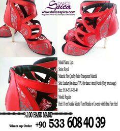 Spica Dance Shoes Royal Series Lyra Model. %100 Hand Made www.dancespica.com