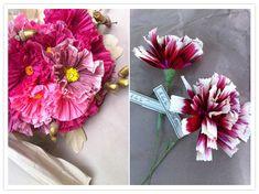 beautiful, handmade paper flowers