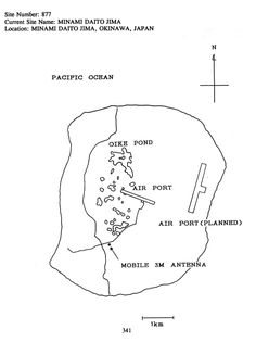 Map of Daito island