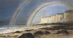 The Rainbow Alexei Bogoliubov - 1887 Russian Landscape, State Art, Art Museum, Poster, Rainbow, Nature, Pictures, Painting, Postcards