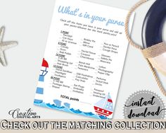 Whats In Your Purse Baby Shower Whats In Your Purse Nautical Baby Shower Whats In Your Purse Baby Shower Nautical Whats In Your Purse DHTQT #babyshowerparty #babyshowerinvites