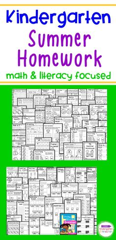 This HUGE pack is filled with math and literacy activities for kindergarten students in the summer before 1st grade. It contains 91 pages of engaging learning activities (i.e., counting objects, patterns, CVC words, graphing, word problems, counting, addition & subtraction within 10, reading simple sentences). It requires little to no prep – just print, and that's it! These printables review Kindergarten standards and help keep students learning over summer break. Kindergarten Math Activities, Literacy Skills, Kindergarten Literacy, Learning Activities, Student Folders, Summer Homework, Cvc Word Families, Cvce Words, Fun Summer Activities
