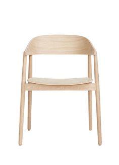 armstol i hvitpigmentert lakk med tresete Andersen furniture - Outdoor Chairs, Outdoor Furniture, Outdoor Decor, Ac2, Designer, Home Decor, Products, Danish Design, Armchairs