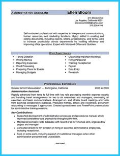 nice Sample to Make Administrative Assistant Resume,