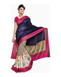 This Saree Is Totally Fashion Saree Designed Completely As Per The Needs Of Women And Women Looks Beautiful When She Drapes It.Saree Length 5.5 meter, Width 1 meter, Blouse Piece 0.8 meter.